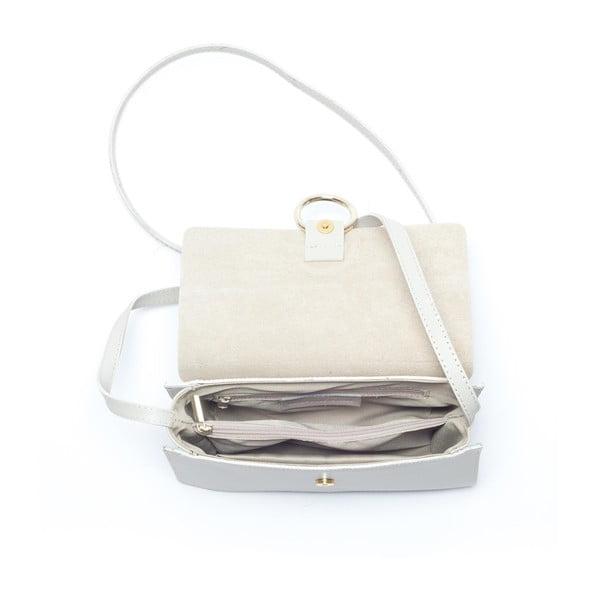 Skórzana torebka Mangotti 3038, beżowa