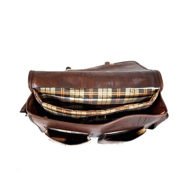 Skórzana torebka Santo Croce 108718 Dark Brown
