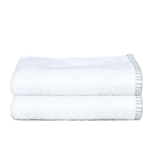 Zestaw 2 ręczników Whyte 50x90 cm, biało-szary