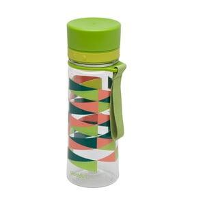 Butelka na wodę Aveo 350 ml, zielona z nadrukiem