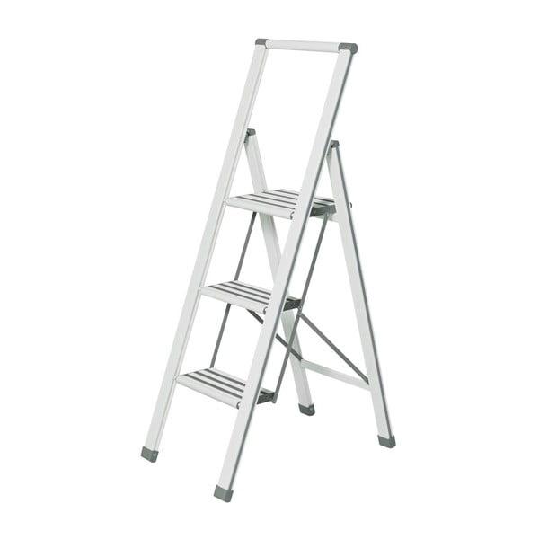 Biała drabina składana Wenko Ladder Alu, wys. 127 cm