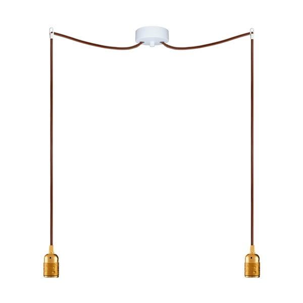 Dwa wiszące kable Uno, złoty/brązowy