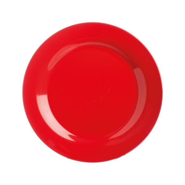 Talerz   kamionkowy Red Dinner, 21 cm