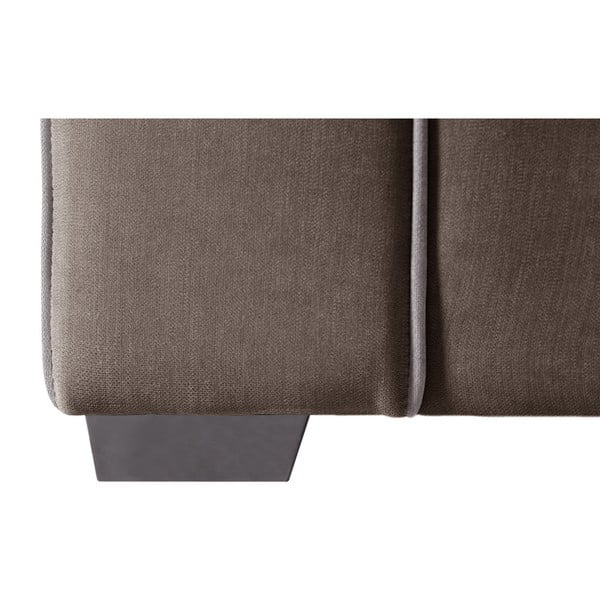 Sofa 3-osobowa Jalouse Maison Serena, czekoladowa