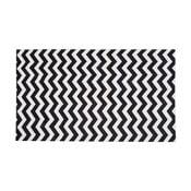 Wytrzymały chodnik kuchenny Webtapetti Optical Black White,60x220cm