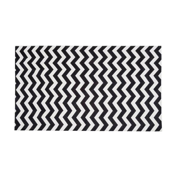 Wysoce wytrzymały chodnik kuchenny Webtapetti Optical Black White,80x130cm