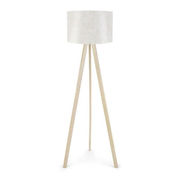 Biała lampa stojąca Aida