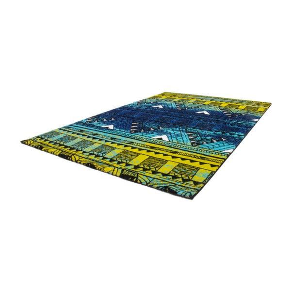 Dywan Aztec zielony/niebieski 80x150cm