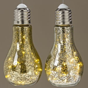 Zestaw 2 dekoracji świetlnych LED Boltze Bulb,wys.18cm