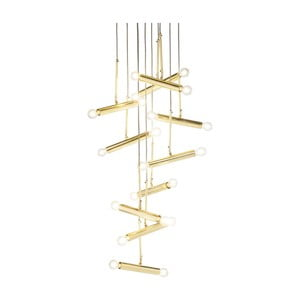 Lampa sufitowa w złotej barwie Kare Design Cluster