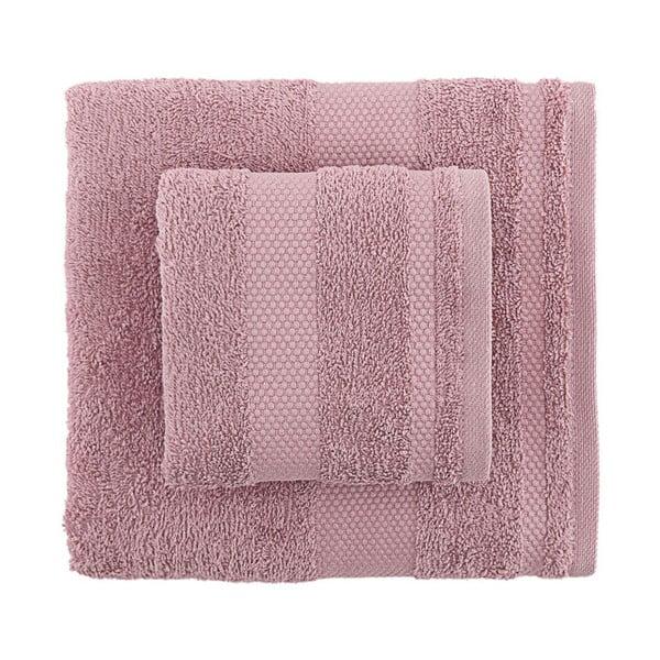 Zestaw 2 fioletowych ręczników Clio