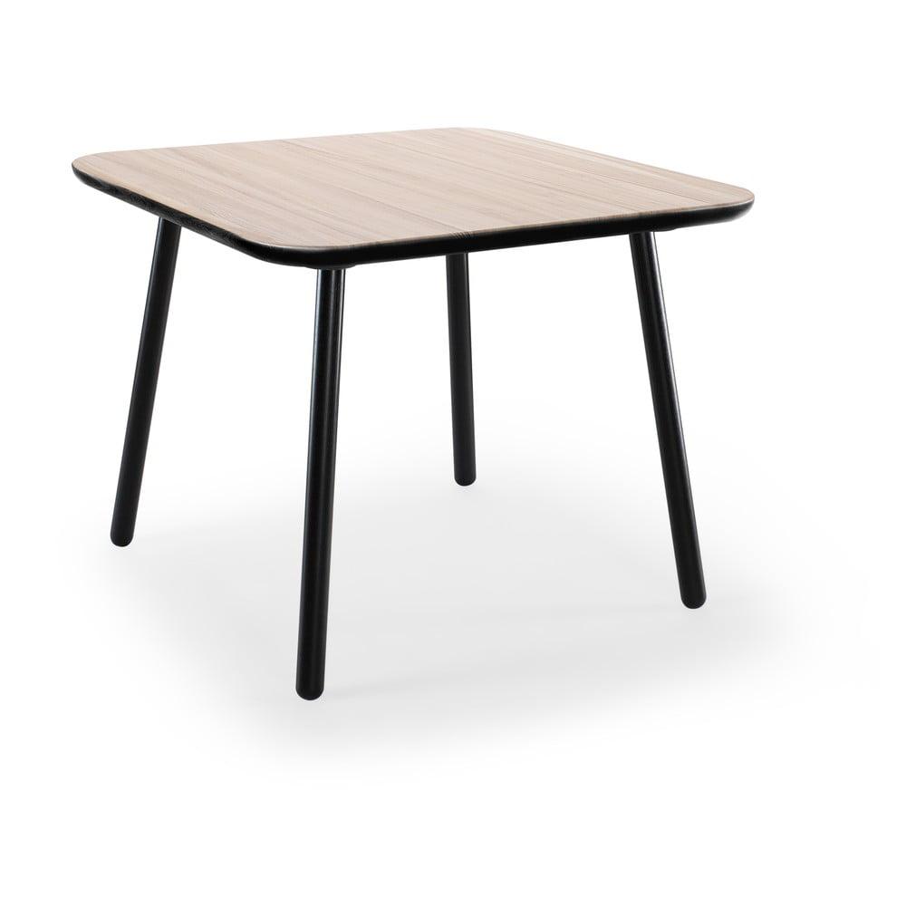 Stół z drewna jesionowego z czarnymi nogami EMKO Naïve