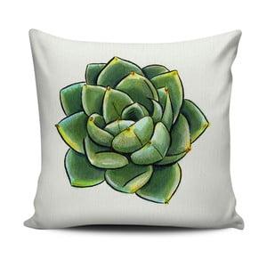 Zielono-biała poduszka Home de Bleu Succulent, 43x43cm