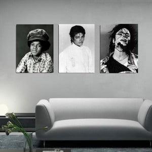 Trzyczęściowy obraz Michael Jackson, 45x90 cm