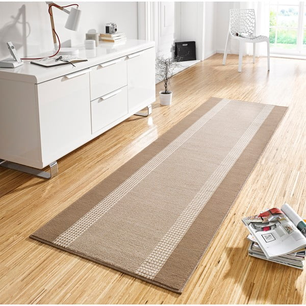 Dywan Basic, 80x300 cm, beżowy