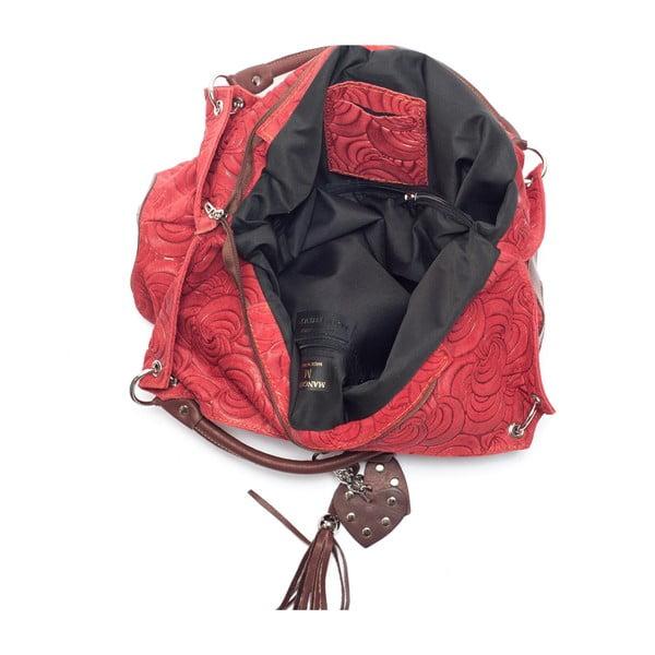 Skórzana torebka Mangotti 8002, czerwona