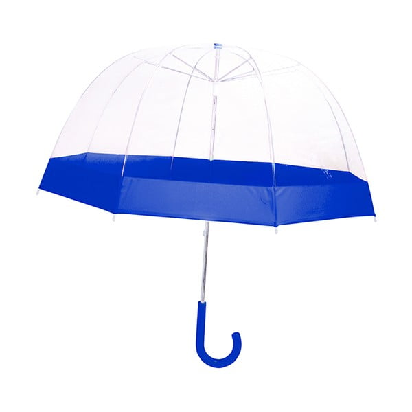 Dziecięcy parasol przezroczysty z niebieskimi detalami