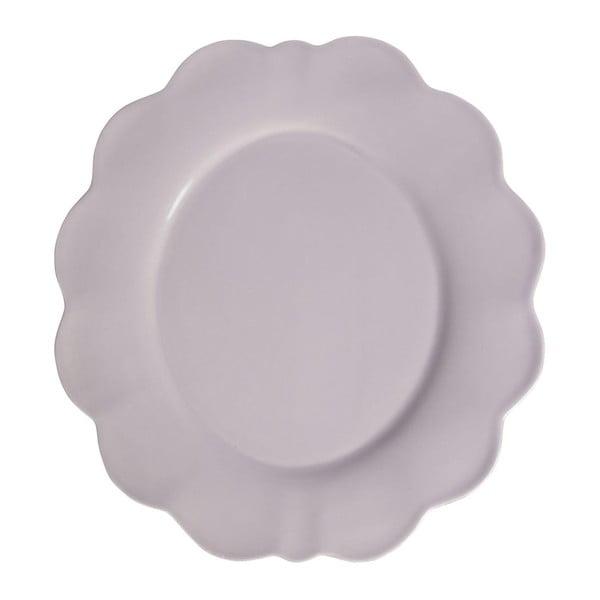Zestaw 4 talerzyków deserowych Petale Lilac