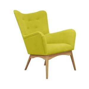 Żółty fotel Scandizen Alicia
