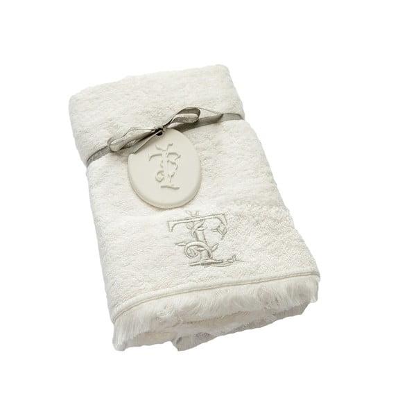 Ręcznik z inicjałem T, 50x90 cm