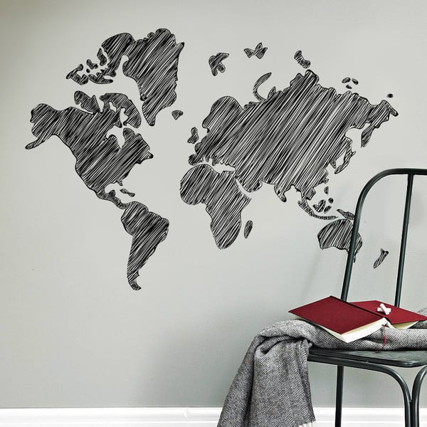 Naklejka naścienna Malowana mapa