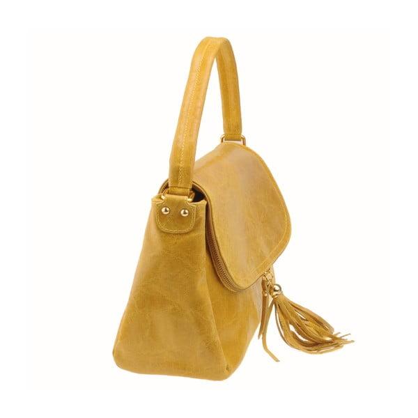 Skórzana torebka Diadema, żółta
