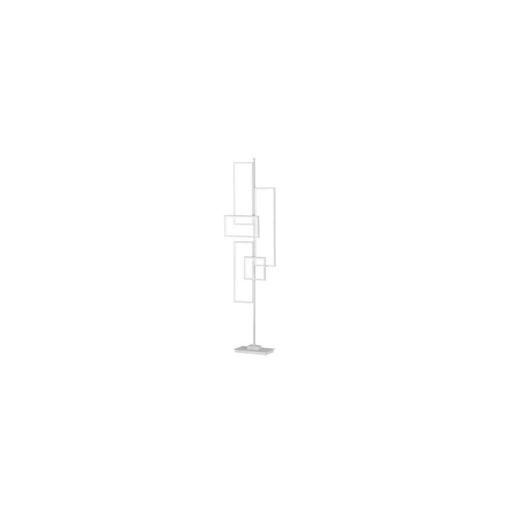 Biała metalowa lampa stojąca LED Trio Tucson, wys. 161 cm