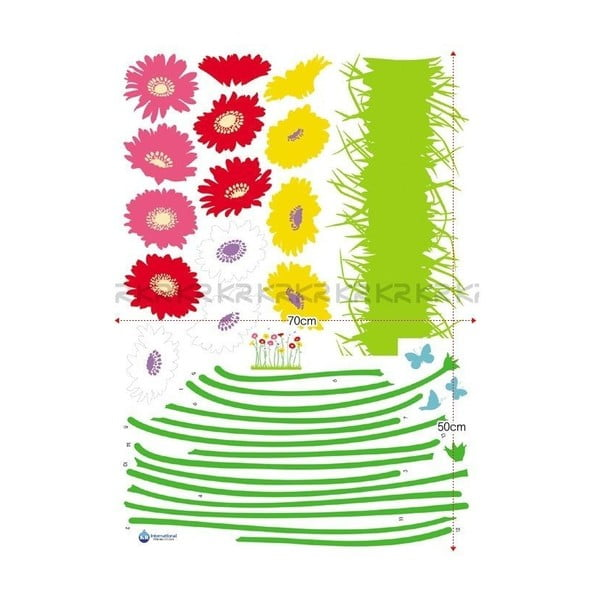Zestaw naklejek Ambiance Garden of flowers