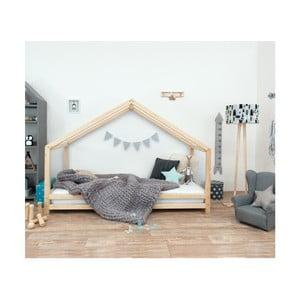 Łóżko dziecięce z naturalnego drewna świerkowego Benlemi Sidy, 80x180 cm