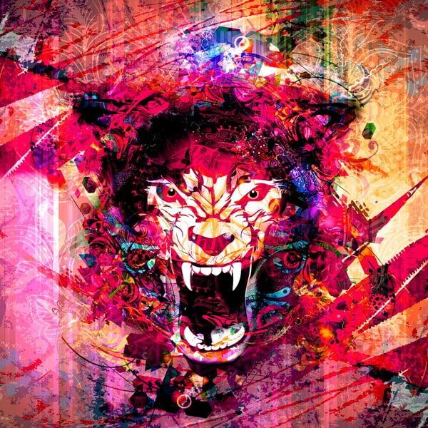 Obraz Niebezpieczeństwo, 60x60 cm