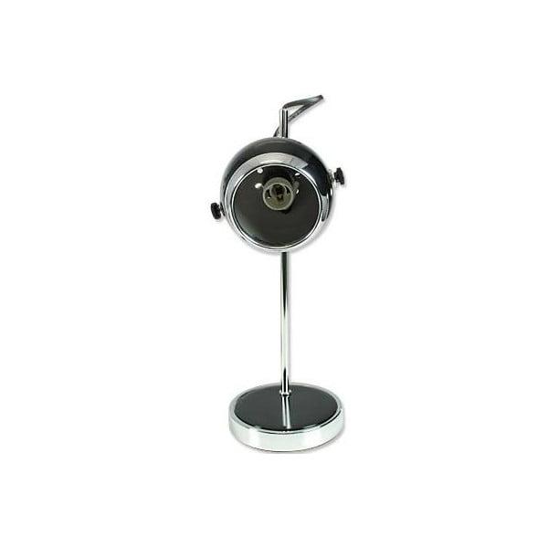 Retro lampa stołowa, czarna
