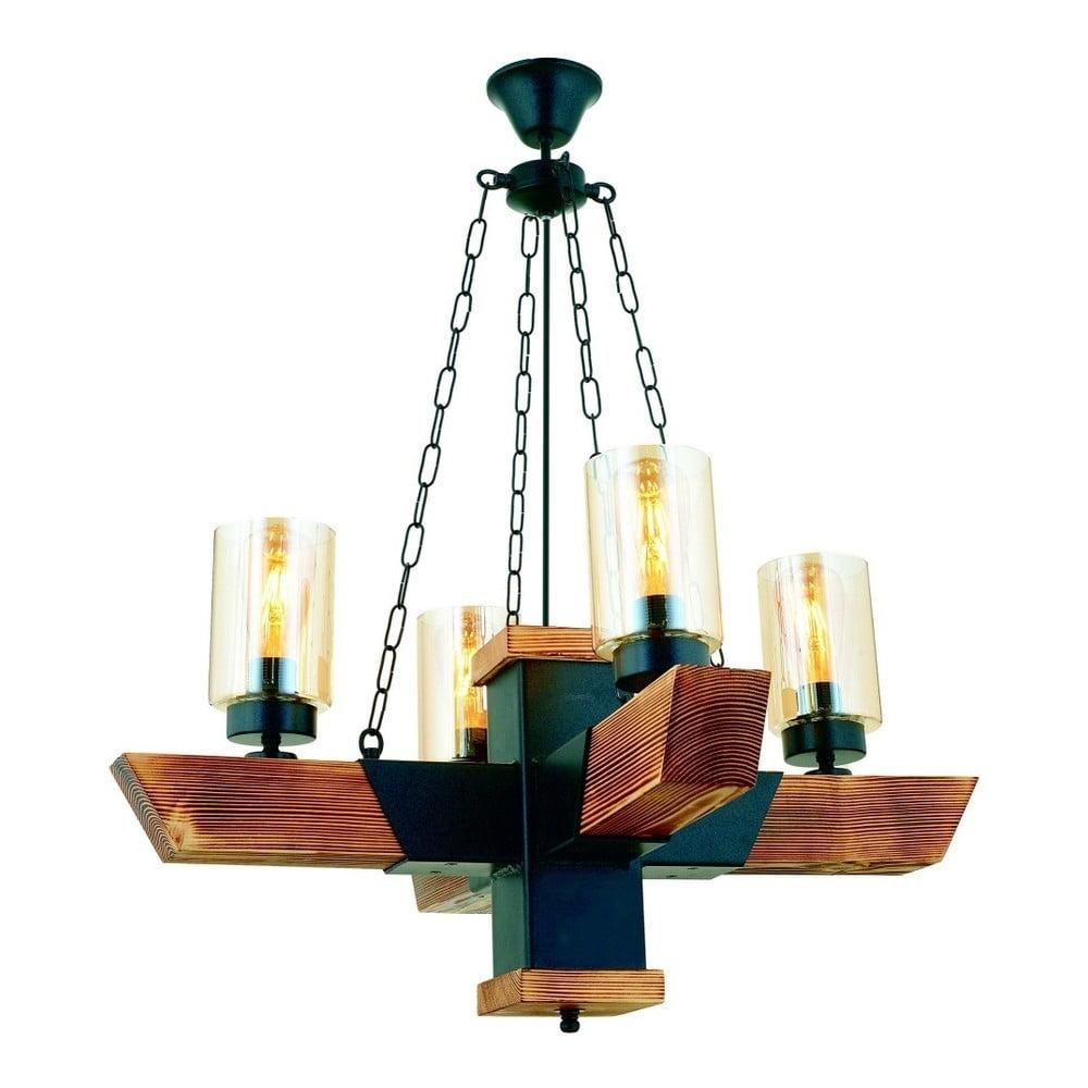 Lampa wisząca z drewna grabu Kayra