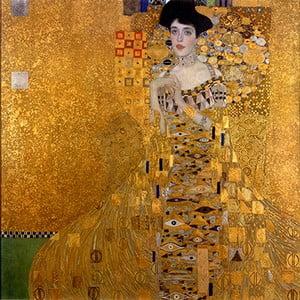 Reprodukcja obrazu Gustava Klimta Adele Bloch-Bauer I, 80x80 cm