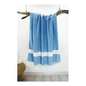 Jasnoniebieski ręcznik Hammam Diamond Style, 100x180 cm