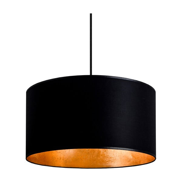 Czarno-złota lampa wisząca Sotto Luce Mika, Ø36 cm