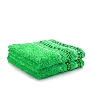 Komplet 2 ręczników Hugo Green, 50x90 cm