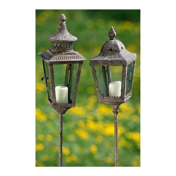 Zestaw 2 lampionów do zatknięcia w ogrodzie Lantern