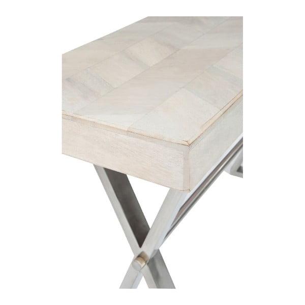 Wysoki stół Chevron White
