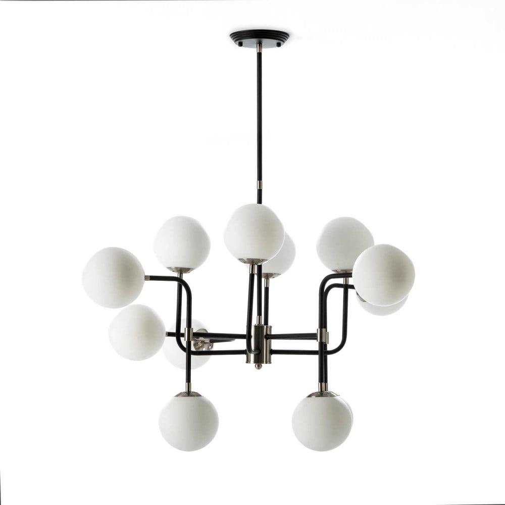 Niewiarygodnie Lampa wisząca z metalu i szkła Thai Natura Art Deco   Bonami SQ56