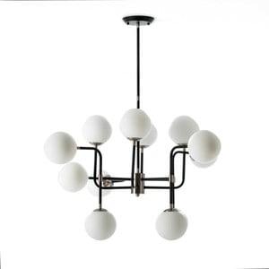 Lampa wisząca z metalu i szkła Thai Natura Art Deco