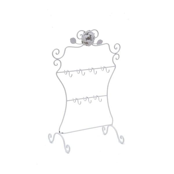 Metalowy stojak na biżuterię White Rose