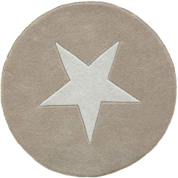 Wełniany dywan Star Beige, 130 cm