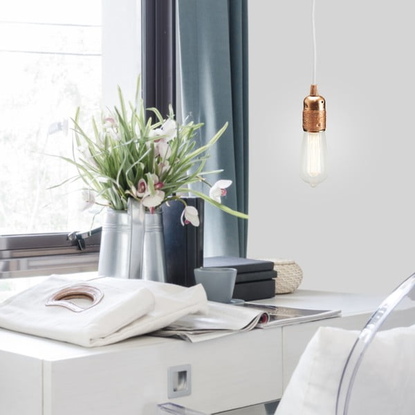 Potrójny biały kabel z oprawą żarówki w kolorze srebra Bulb Attack Uno
