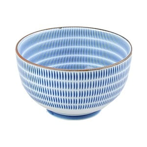 Porcelanowa miska Blue Stripes, 12.8 cm