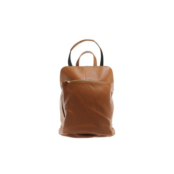 Skórzany plecaczek Cortese, miodowy