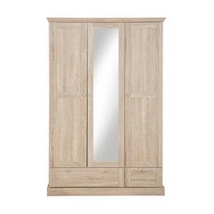 Szafa 3-drzwiowa z dębowym dekorem i lustrem Støraa Bruce