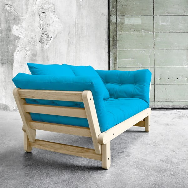 Sofa rozkładana Karup Beat Natural/Horizon Blue