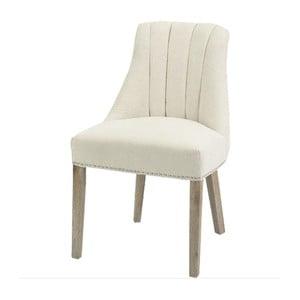 Kremowe krzesło z naturalnymi nogami Artelore Jenkins
