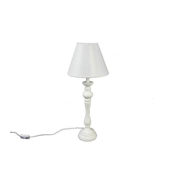 Lampa stołowa Wood White, 48,5 cm