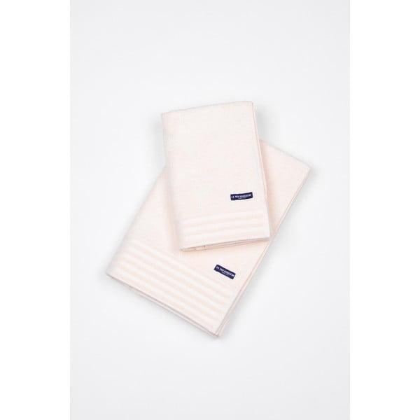 Komplet 2 ręczników U.S. Polo Assn. White, 50x100 a 70x140 cm